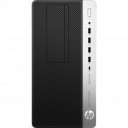 PC HP EliteDesk 705 G4, 4KV26EA, SFF, AMD Ryzen 5 PRO 2400G 3.6GHz, 256GB SSD, 8GB, AMD Radeon Vega 11, Windows 10 Professional, crna, srebrna, 12mj, Tipk., Miš