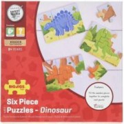 Set 3 puzzle BigJigs din lemn Dinozauri