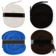Fashion Gateway 36 Inch Sports Shoe Cotton 04 Shoe Lace(Black, Brown, Blue, White Set of 4)