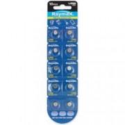 Raymax Batteries Batterie a bottone Alcalina LR66 LR626 377 AG4 (set 10 pz)