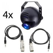 EuroLite LED PST-9W TCL DMX 4pcs Bundle