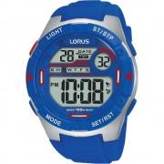 Lorus Montre-bracelet multifonctions numériques Lorus R2301NX-9 Digital Blue Quartz/inox