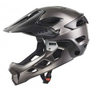 Uvex Jakkyl Hde - casco enduro - black/dark silver matt