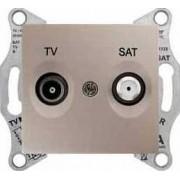 SEDNA TV-R-SAT aljzat átmenő 8 db IP20 Titán SDN3401268 - Schneider Electric