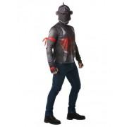 Vegaoo Black Knight-Fortnite Kostüm für Erwachsene grau-rot