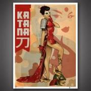 DC Bombshells Katana 46 x 61 cm