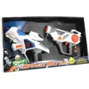 Set 2 pistoale spatiale cu sunete si lumini
