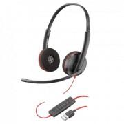 PLANTRONICS slušalice BLACKWIRE C3220 USB (Crne)