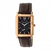Heritor Automatic Frederick Leather-Band Watch - Rose Gold/Black HERHR6105
