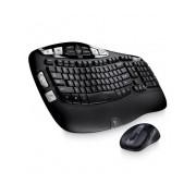 Kit de Teclado y Mouse Logitech MK550, Inalámbrico, USB, Negro