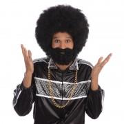 Geen Afro snor, baard en pruik zwart