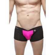 Petit-Q Foliz Waistband C Ring Boxer Brief Underwear Black/Pink PQ3