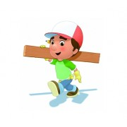 Figurina Manny with wood truss