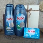 Baba ajándékcsomag férfiaknak (tusfürdő, sampon, szappan)