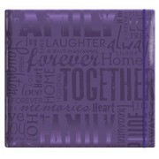 """MBI by MCS Industries MCS MBI Embossed Gloss Expressions Top Load Scrapbook, Deep Purple, Embossed""""Family"""