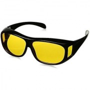 HD Night Vision Glasses Wrap Arounds Glasses Yellow Color Glasse By Ral Night Club Set Of 1