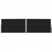 vidaXL Bočna Tenda na Uvlačenje 180x600 cm Crna