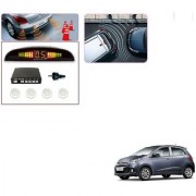 Auto Addict Car White Reverse Parking Sensor With LED Display For Hyundai Grand i10
