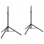 vidaXL Adjustable Speaker Stand 2 pcs