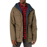 Volcom Renton Winter Parka con capucha de teflón para hombre, Café mayor, X-Large