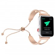 Classic Stainless Steel Watch Strap Bracelet for Apple Watch Series 4 40mm/3/2/1 38mm - Rose Gold
