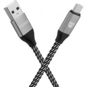 Storm Force Rugged Micro USB cable-2 Meter/6.5 feet Metallic Nylon Braided Tangle free and Super Fast Charging upto 2