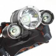 Lanterna frontala RJ-3000 Aluminiu Led 3 x CREE-XM-L T6 3000 Lumeni