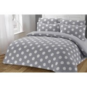 Omeco Limited £19.99 instead of £45 for a single polka dot teddy fleece duvet cover set, £24.99 for a double, a king for £28.99 or a superking for £32.99 from Ehome Store - save 56%