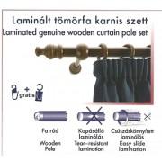 Laminált tömörfa karnis szett, dió/200cm/Cikksz:095012