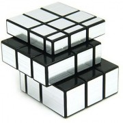 6th Dimensions 3 X 3 X 3 Silver Mirror Cube Puzzle Fast Smooth Cube (Silver)