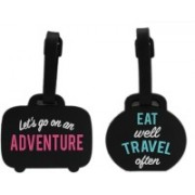 Shoppernation Luggage Tag Eat Travel Adventure - Pack of 2 (CLNT33) - Bag Adventure Tags Luggage Tag(Multicolor)