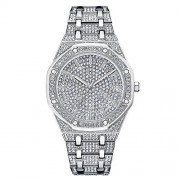 Jack-F Iced out Reloj Hip Hop Bling Bling Bling para Hombre