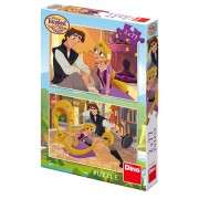 PUZZLE 2 IN 1 - TANGLED (77 PIESE) - DINO TOYS (386167)