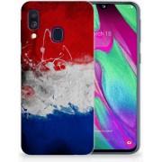 Samsung Galaxy A40 TPU Siliconen Hoesje Nederlandse Vlag