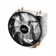 Cooler DeepCool CPU universal, soc LGA115x/775 & FMx/AMx, Al+Cu, 3x heatpipe, red LED fan 120x25mm, 130W --GAMMAXX 300R""
