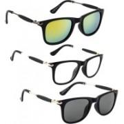 Phenomenal Wayfarer Sunglasses(Black, Clear, Yellow)
