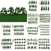 ELECTROPRIME® 10pcs Landscape Scenery Trees Model Train Wargame Layout 1:50 O Scale Tree