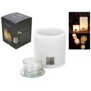 Gusta Endless Candle 10 x10cm Rustic White