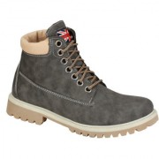 Wave Walk MenS Grey Casual Lace-Up Boots (BOMBER-10-GREY)