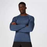Myprotein Bezszwowa Koszulka z Długim Rękawem z Kolekcji Elite – Indygo - M