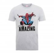 Marvel Comics Spider-Man Totally Amazing Heren T-shirt - Grijs - XL - Grijs