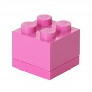 Lego Mini Ladrillo de almacenamiento LEGO (4 espigas) - Violeta