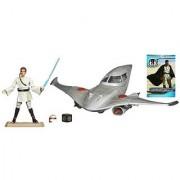Star Wars Naboo Royal Fighter Vehicle with Obi-Wan Kenobi Figure 4 Inches