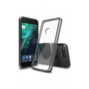 Husa Protectie Spate Ringke Fusion Smoke Black plus folie protectie display pentru Google Pixel