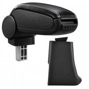 Středová loketní opěrka - vhodná pro: Golf 3, Volkswagen Vento - umělá kůže - Černá s bílými švy