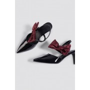 NA-KD Shoes Bow Detail Pointy Heels - Pumps - Black,Red