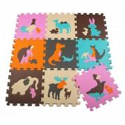 9pcs/lot Baby Play Mat grano Hoja Puzzle Mats Estera de espuma EVA Kids Jigsaw alfombrillas