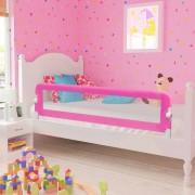 vidaXL Ограничител за бебешко легло, 150x42 см, розов