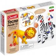 Quercetti tecno puzzle 3d leone & zebra 0540