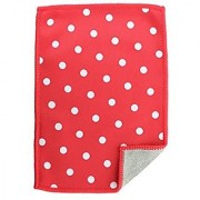 Toddy Gear Screen Cleaning Cloth for Smartphones Tablets and Glass Surfaces 5x7 Inches Polka Cherry (POA1-C0324)